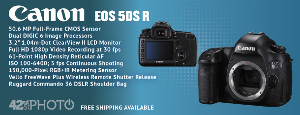 Canon EOS 5DS R 50.6 Megapixel DSLR Camera (Body)