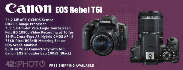 Canon EOS Rebel T6i 24.2 Megapixel DSLR Camera W/ 18-135mm IS Lens