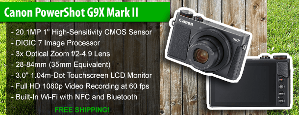 Canon PowerShot G9X Mark II 20.2 Megapixel Digital Camera (Black)
