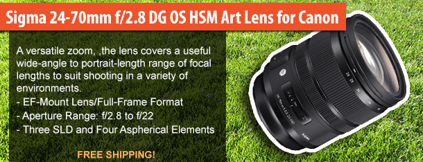 Sigma 24-70mm f/2.8 DG OS HSM Art Lens for Canon (82mm)