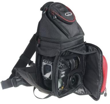 Vanguard Pampas 47 Black Sling Style Camera Bag With Extra Side Zipper Opening